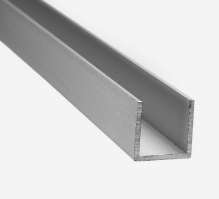 Perfil u em aluminio 600 m esp 6 mm policarbonato telhaton - Perfil aluminio u ...